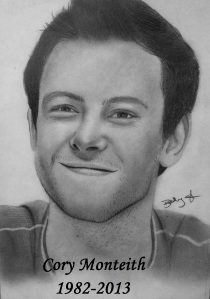 Cory Monteith drawing